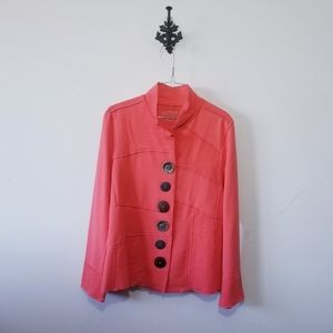 Neon Buddha Coral Blazer Jacket Size S